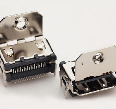 HDMI Connector Sockets, (SMT) Surface mount, (DIP) Through Hole HDMI Jacks